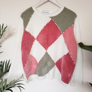 Alfred Dunner | Colorblock Embellished Sweater XL